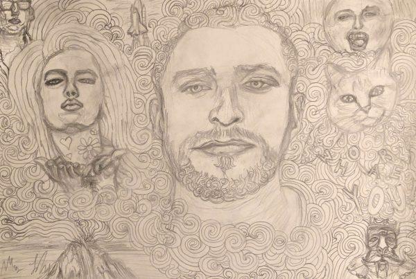 Unfinished Portrait Part II- Drawn Background