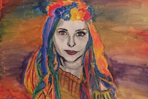 Surrebral Innocence of Feminism Painting