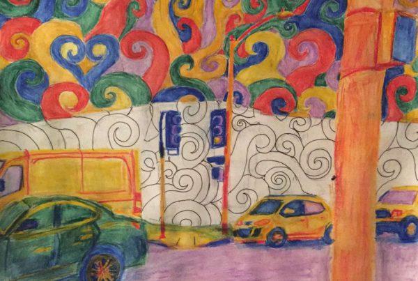 Surrebral Melrose Avenue Painting