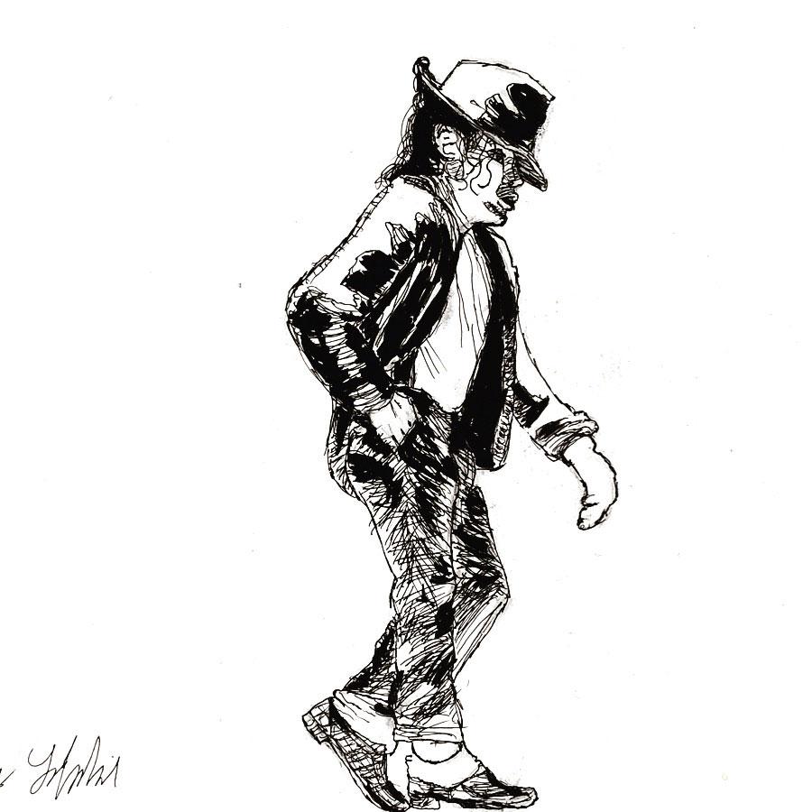 Surrebral Michael Jackson Moonwalker Drawing