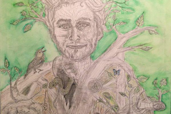 Surrebral Nature Self Portrait Painting