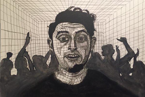 Surrebral Social Anxiety Painting