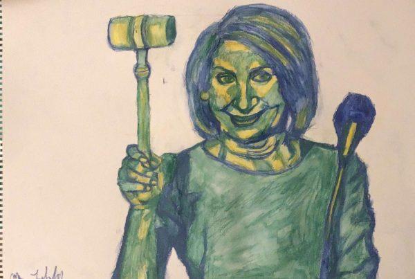 Surrebral Madame Speaker- Nancy Pelosi portrait painting