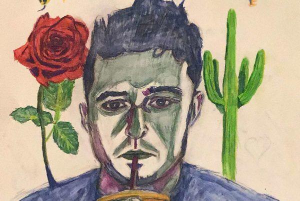 Surrebral- the Struggle for Self-Acceptance self portrait